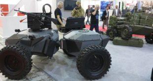 Бойові роботи українського виробництва показали на міжнародній виставці (ВІДЕО)